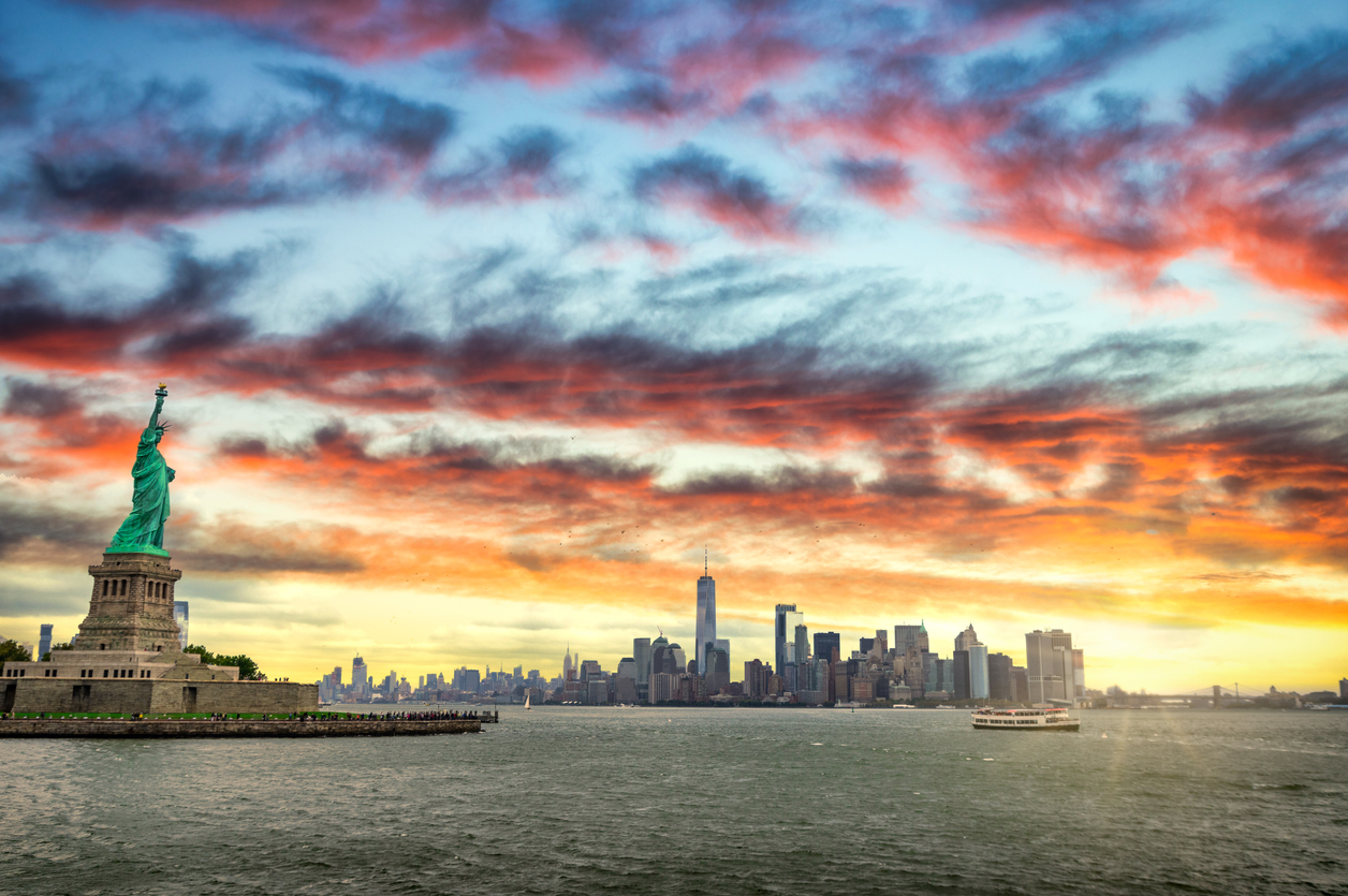 The skyline of NYC